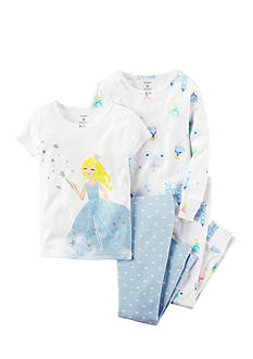 Carter's 4-Piece Princess Pajama Set Toddler Girl