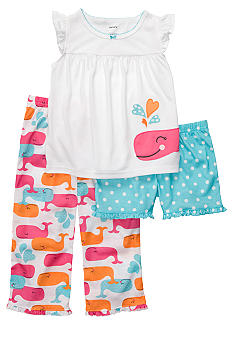 Carter's 3-Piece Whale Pajama Set Toddler Girls