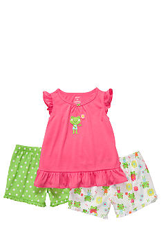 Carter's Frog 3-Piece Pajama Set Toddler Girl