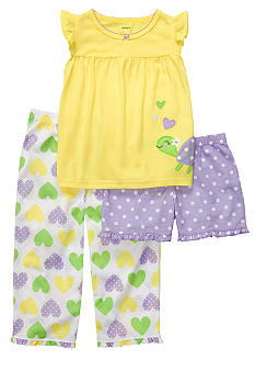 Carter's 3-Piece Turtle Pajama Set Toddler Girls