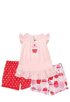 Carter's Cupcake 3-Piece Pajama Set Toddler Girls