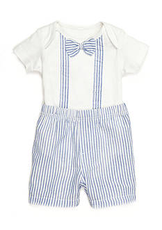Nursery Rhyme 2-Piece Seersucker Bodysuit and Short Set