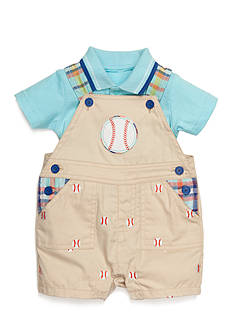 Nursery Rhyme 2-Piece Baseball Shortall and Polo Set