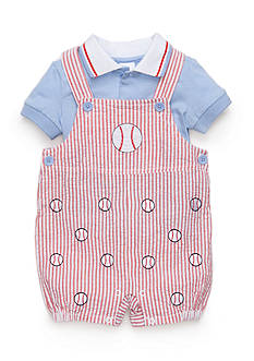 Nursery Rhyme 2-Piece Baseball Shortalls Set