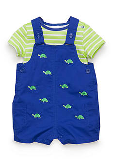 Nursery Rhyme 2-Piece Turtle Shortall Set