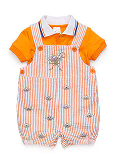 Nursery Rhyme 2-Piece Monkey Shortalls Set