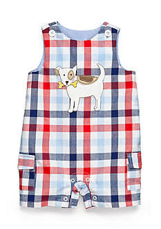 Nursery Rhyme Plaid Dog Shortalls