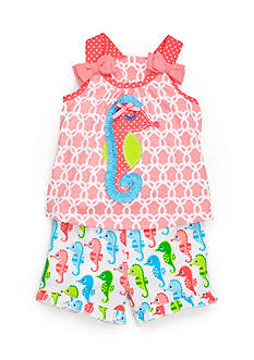 Nursery Rhyme 2-Piece Sea Horse Top and Shorts Set