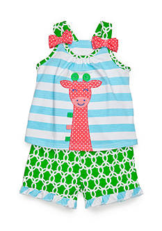 Nursery Rhyme 2-Piece Giraffe Top and Shorts Set