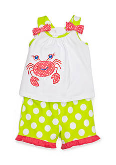 Nursery Rhyme 2-Piece Crab Top and Short Set