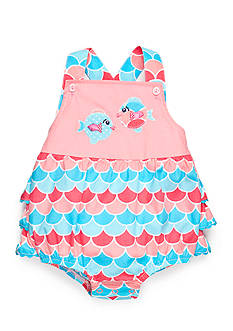 Nursery Rhyme Ruffle Bottom Fish Sunsuit