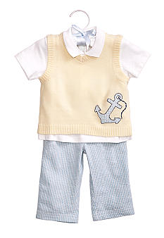 Nursery Rhyme 3-Piece Anchor Vest Set