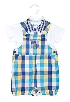 Nursery Rhyme Plaid Shortall Set