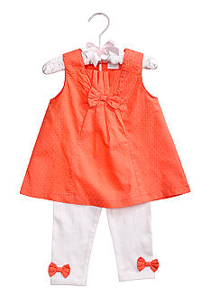 Nursery Rhyme 2-Piece Swiss Dot Tunic & Legging Set