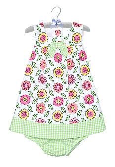 Nursery Rhyme Floral Gingham Dress Set