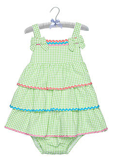Nursery Rhyme Gingham Tiered Dress