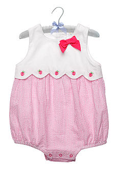 Nursery Rhyme Pink Seersucker Sunsuit