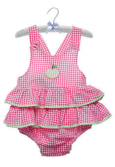 Nursery Rhyme Pink Gingham Sunsuit