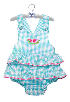Nursery Rhyme Turquoise Gingham Sunsuit
