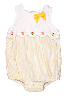Nursery Rhyme Seersucker Cupcake Sunsuit