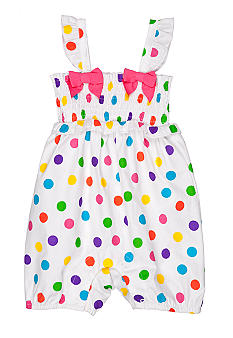 Nursery Rhyme Dot Bow Romper