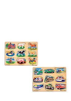 Melissa & Doug Sound Puzzle Bundle