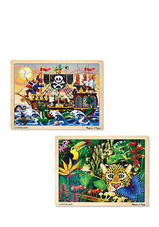 Melissa & Doug Jigsaw 2-Puzzle Bundle