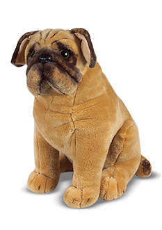 Melissa & Doug Plush Pug Dog - Online Only