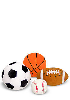 Melissa & Doug 4-Pack Plush Sports Balls