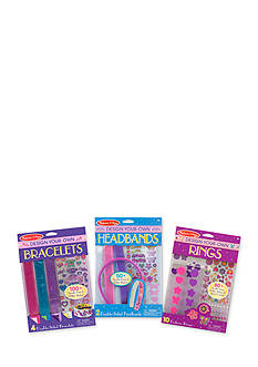 Melissa & Doug DYO Accessories Bundle- Bracelets, Headbands & Rings