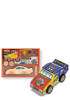 Melissa & Doug Wooden Race Car - Decorate Your Own - Online Only
