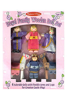 Melissa & Doug Royal Family Wooden Doll Set - Online Only