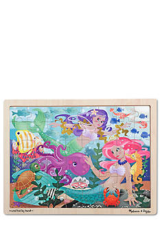 Melissa & Doug 48-Piece Mermaid Fantasea Wooden Jigsaw Puzzle - Online Only