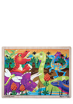 Melissa & Doug 24-Piece Prehistoric Sunset Dinosaurs Jigsaw Puzzle - Online Only