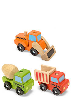 Melissa & Doug Construction Trucks Set