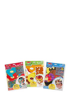 Melissa & Doug Simple Craft Bundle - Masks, Cuffs, & Hats