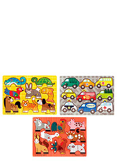 Melissa & Doug Mix 'N Match 3 Puzzle Bundle - Online Only