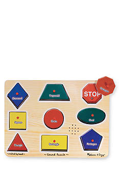 Melissa & Doug Wooden Familiar Shapes Puzzle