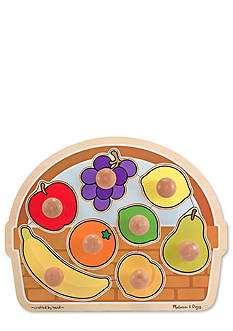 Melissa & Doug Jumbo Knob Fruit Basket Puzzle - Online Only