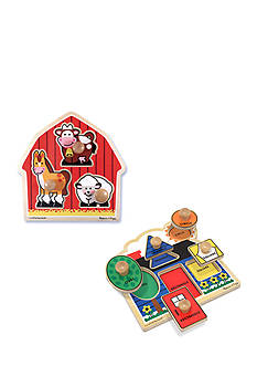 Melissa & Doug Jumbo Knob Puzzle Bundle
