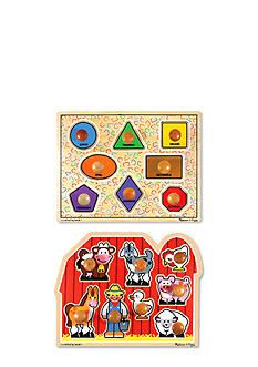 Melissa & Doug Jumbo Knob Puzzle Bundle - Online Only