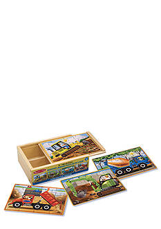 Melissa & Doug Construction Puzzles in a Box - Online Only