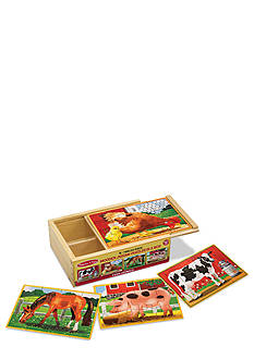 Melissa & Doug Farm Animals Puzzles in a Box - Online Only