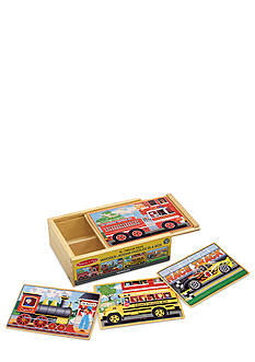 Melissa & Doug Vehicle Puzzles in a Box - Online Only
