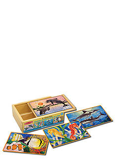 Melissa & Doug Sea Life Puzzles in a Box - Online Only