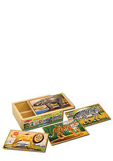 Melissa & Doug Wild Animal Jigsaw Puzzles