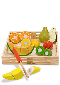 Melissa & Doug Wooden Cutting Fruit Crate