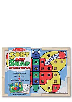 Melissa & Doug Sort and Snap Color Match Butterfly - Online Only