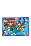 Melissa & Doug® United States Map Floor Puzzle - Online Only