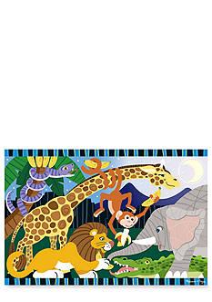 Melissa & Doug Safari Social Floor 24-Piece Puzzle - Online Only